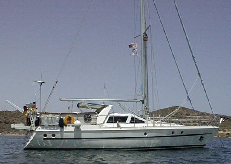 meer anker segelboot