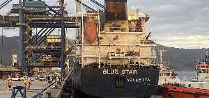 'Blue Star' im Hafen von El Ferrol