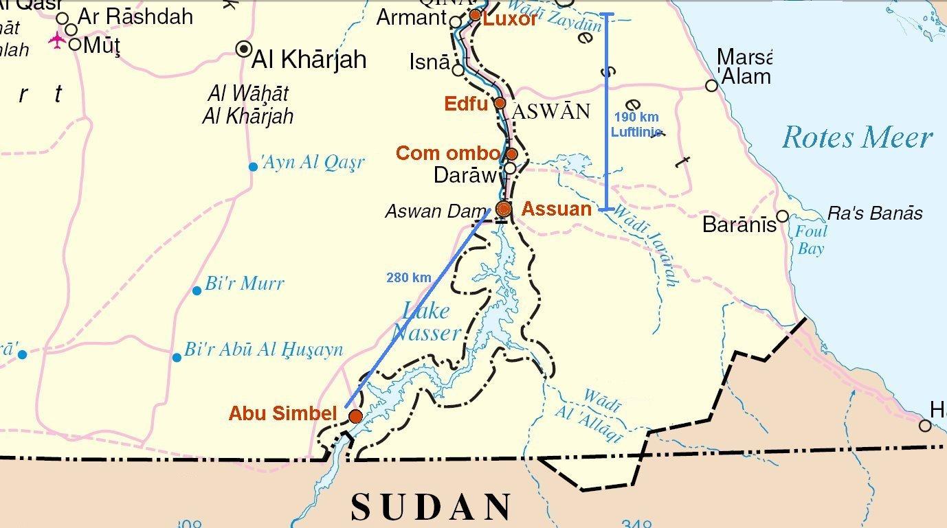 Karte ägypten Nil.Information Für Touristen Segler Nilkreuzfahrt ägypten
