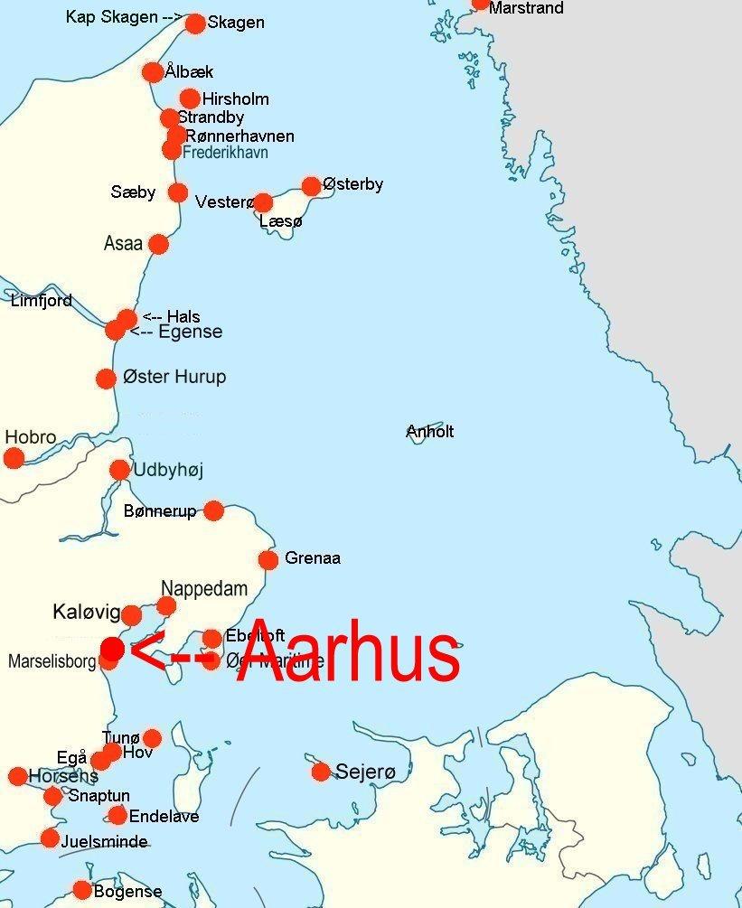 Online Hafenhandbuch Dänemark Stadthafen Aarhus Jütland