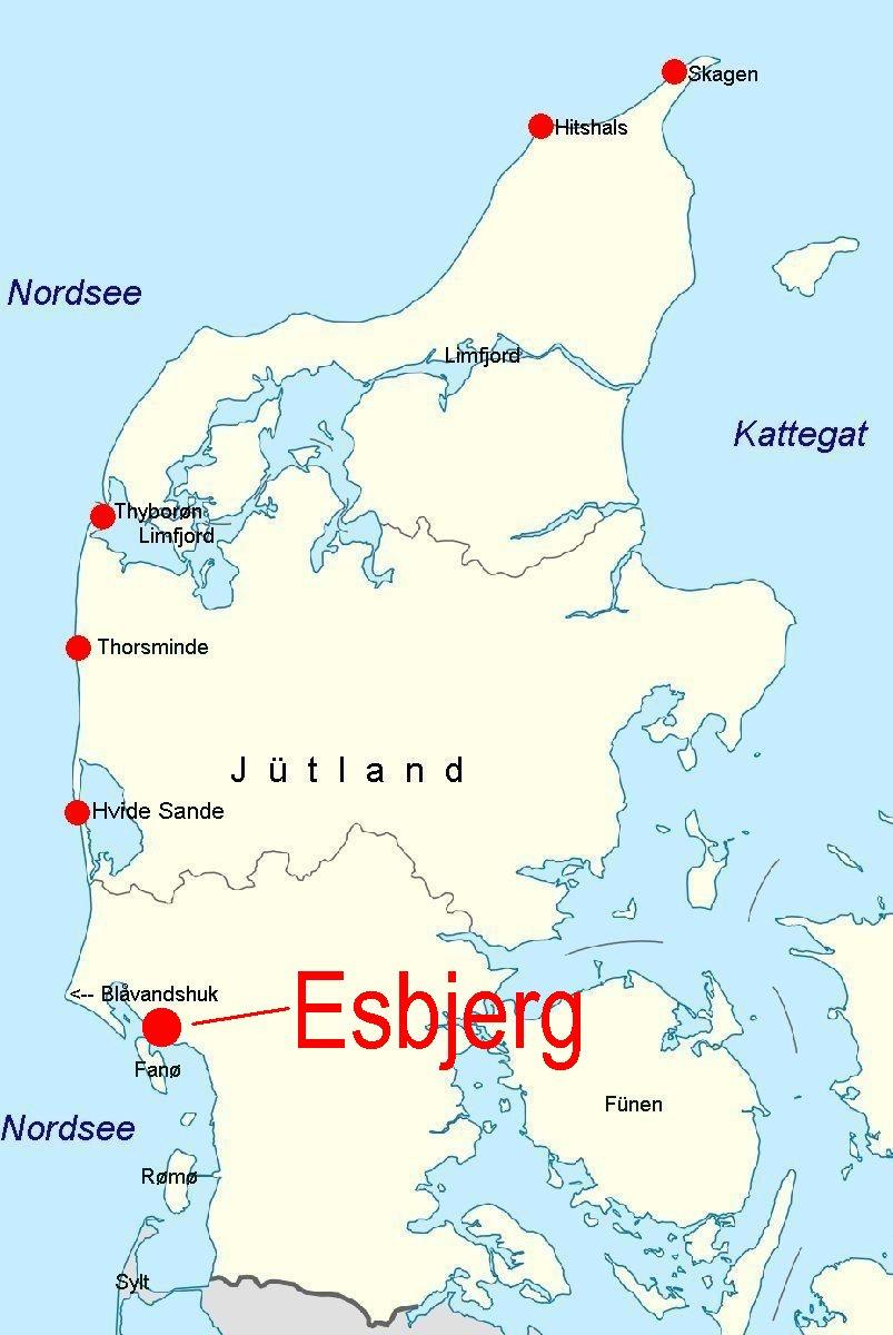 Online-Hafenhandbuch Dänemark: Esbjerg / Nordseeküste