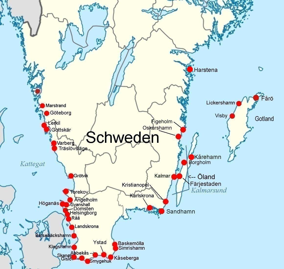 Schweden Bilder information für segler beschreibung der südküste schwedens und der