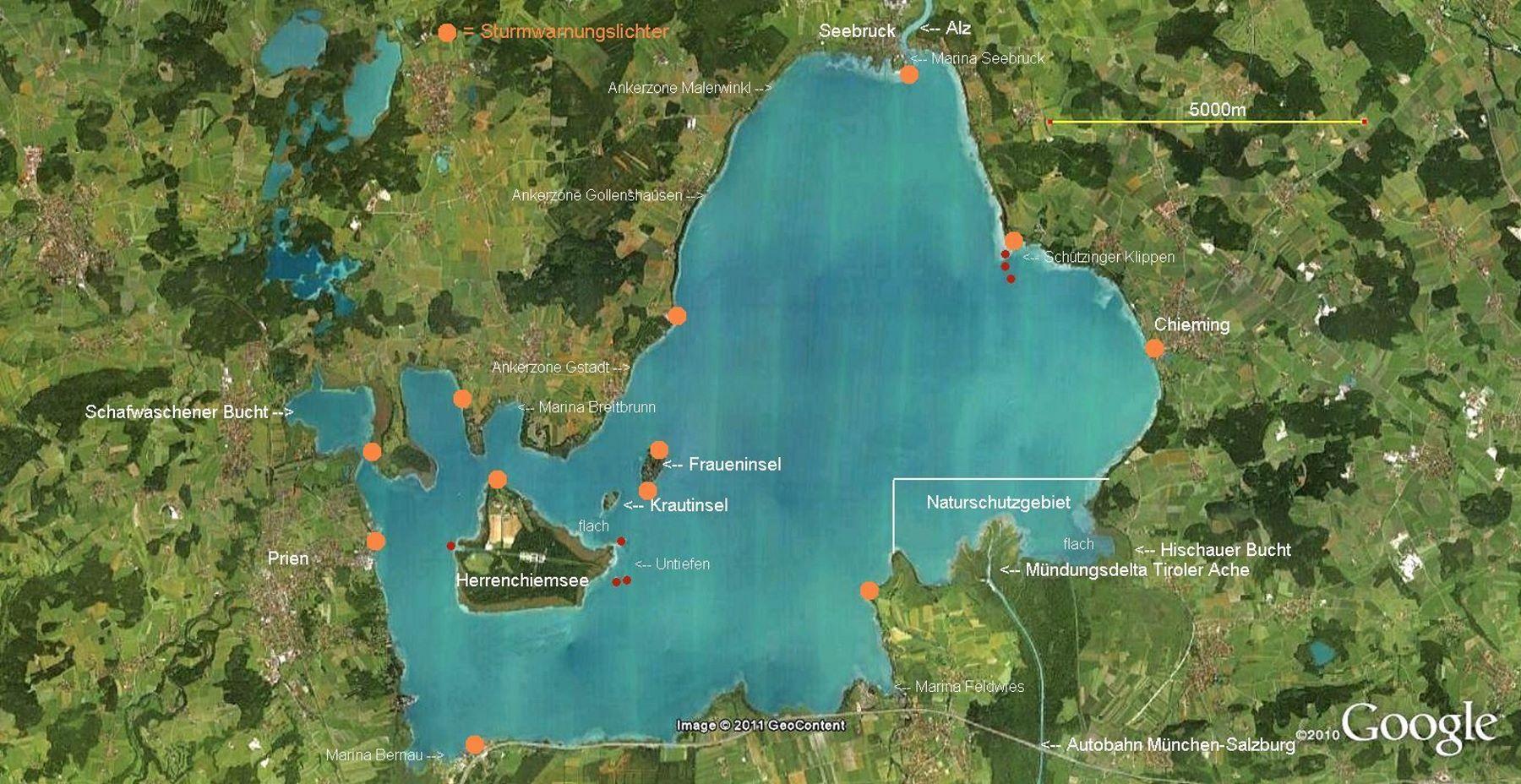 Chiemsee Karte Pdf.Online Hafenhandbuch Deutschland Der Chiemsee