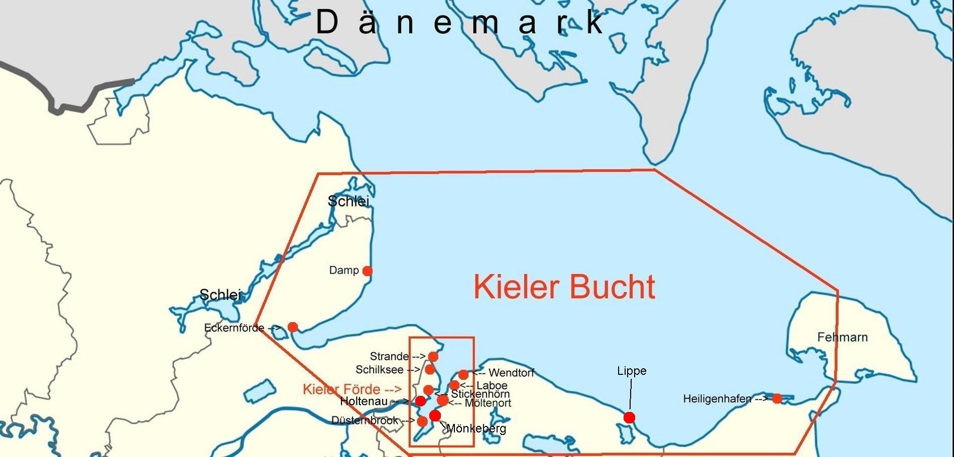 Kieler Bucht Karte.Online Hafenhandbuch Deutschland Kieler Bucht Und Die Häfen