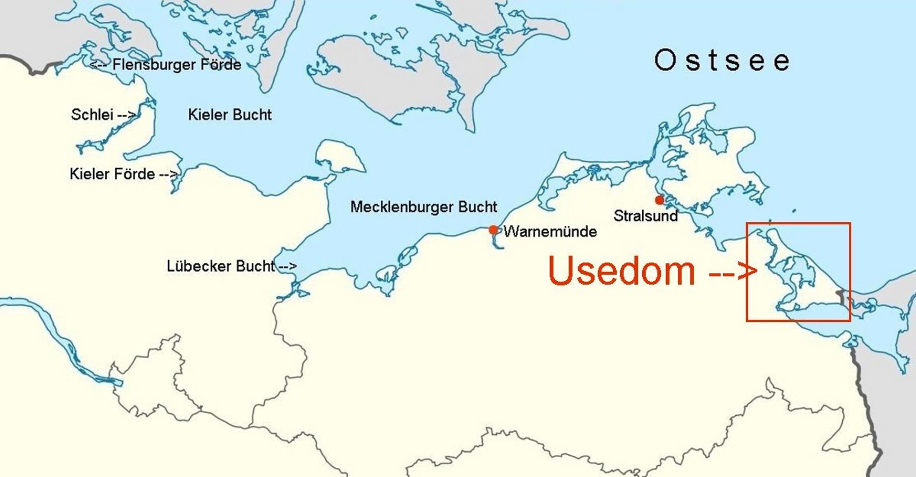 usedom karte deutschland