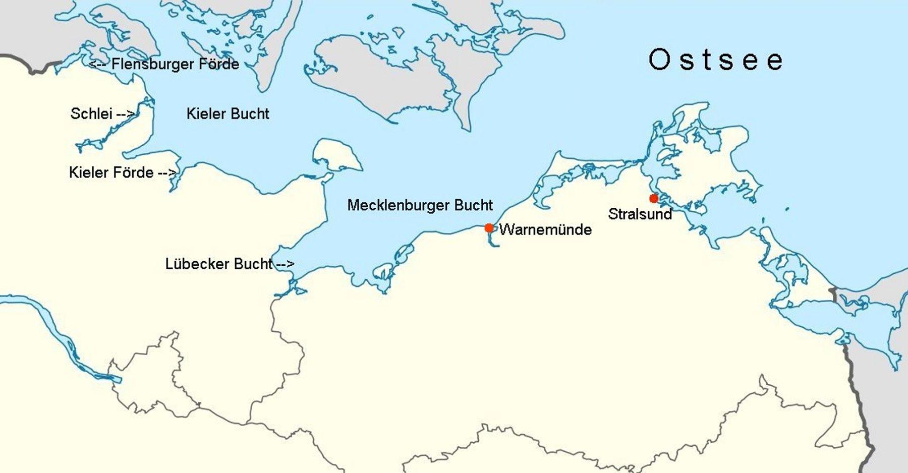 deutsche ostseeküste karte Online Hafenhandbuch Deutschland: Die Ostsee, Übersicht und  deutsche ostseeküste karte