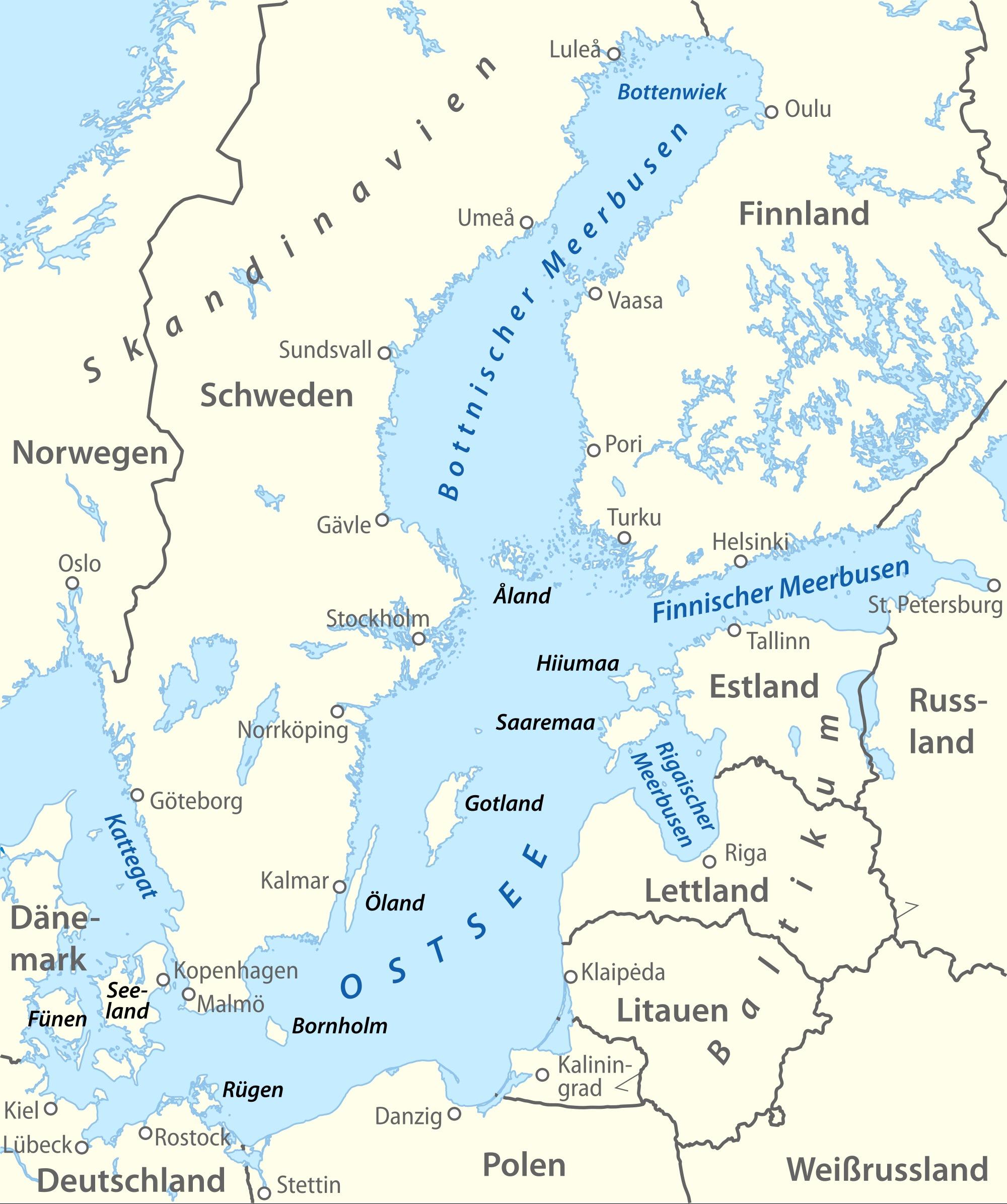 Karte Ostseeküste Polen.Online Hafenhandbuch Deutschland Die Ostsee übersicht Und