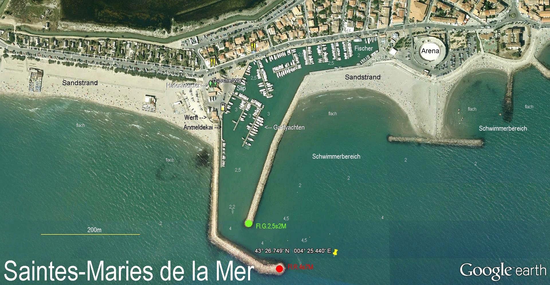 Revierinformation f r segler beschreibung der marina - Office du tourisme saintes marie de la mer ...