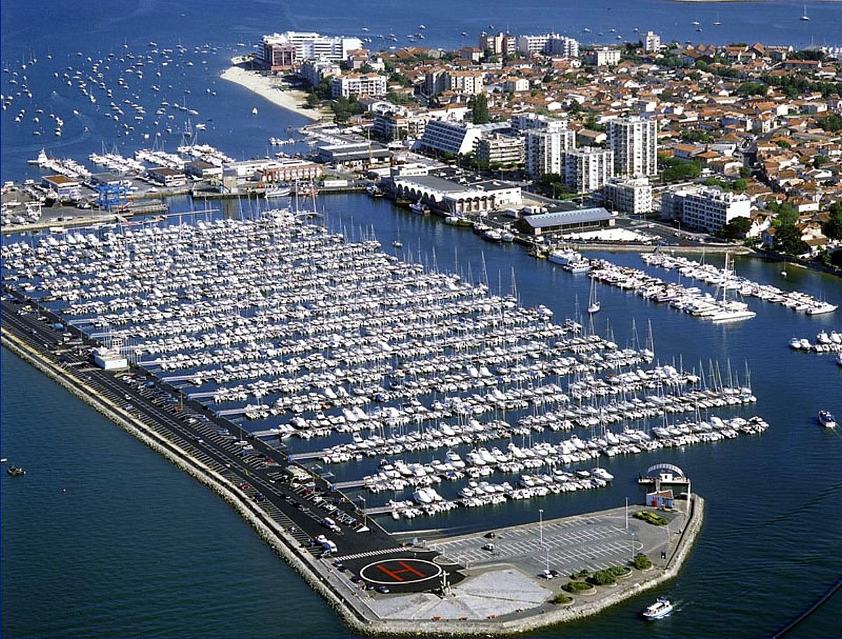 Revierinformation f r segler beschreibung der marina port - Restaurant arcachon port de plaisance ...