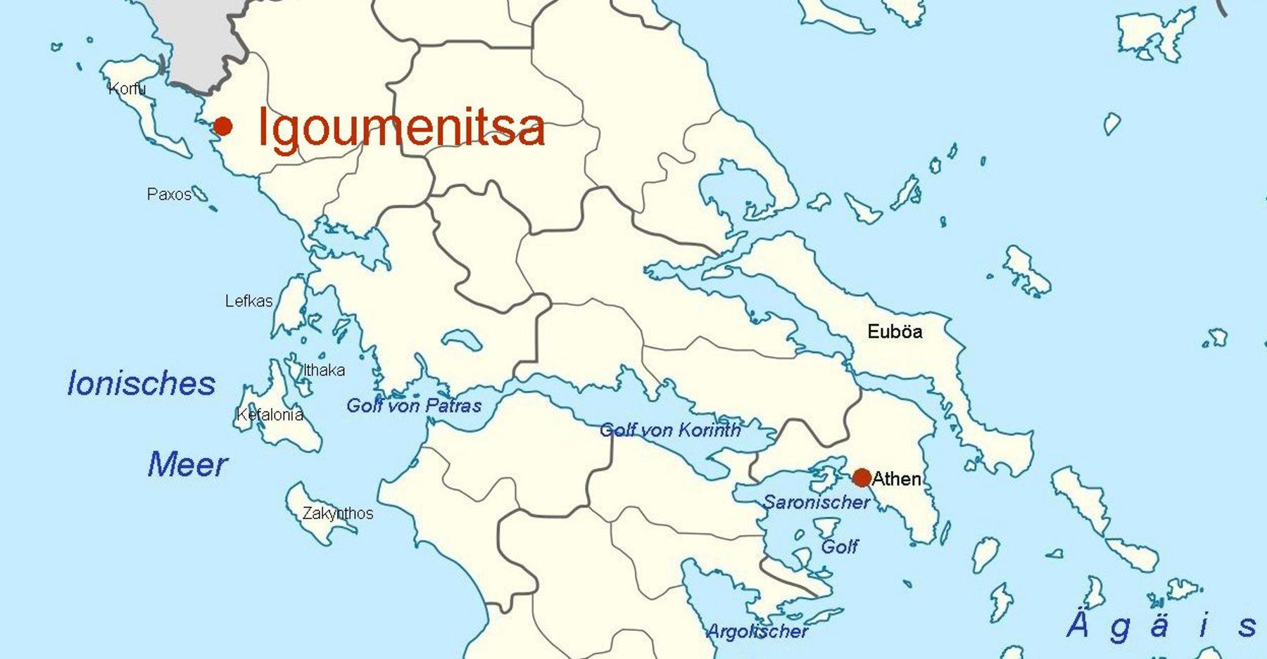 igoumenitsa griechenland karte Online Hafenhandbuch Griechenland: Hafen Igoumenitsa an der