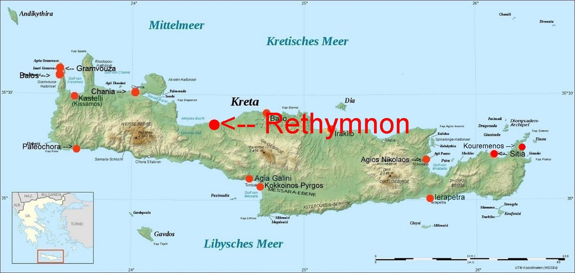 Online-Hafenhandbuch Griechenland:Rethymnon / Kreta
