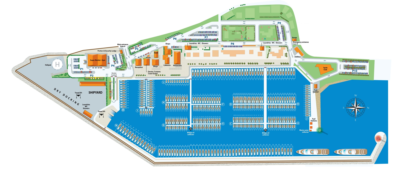 Rhodos Karte Flughafen.Online Hafenhandbuch Griechenland Marina In Rhodos
