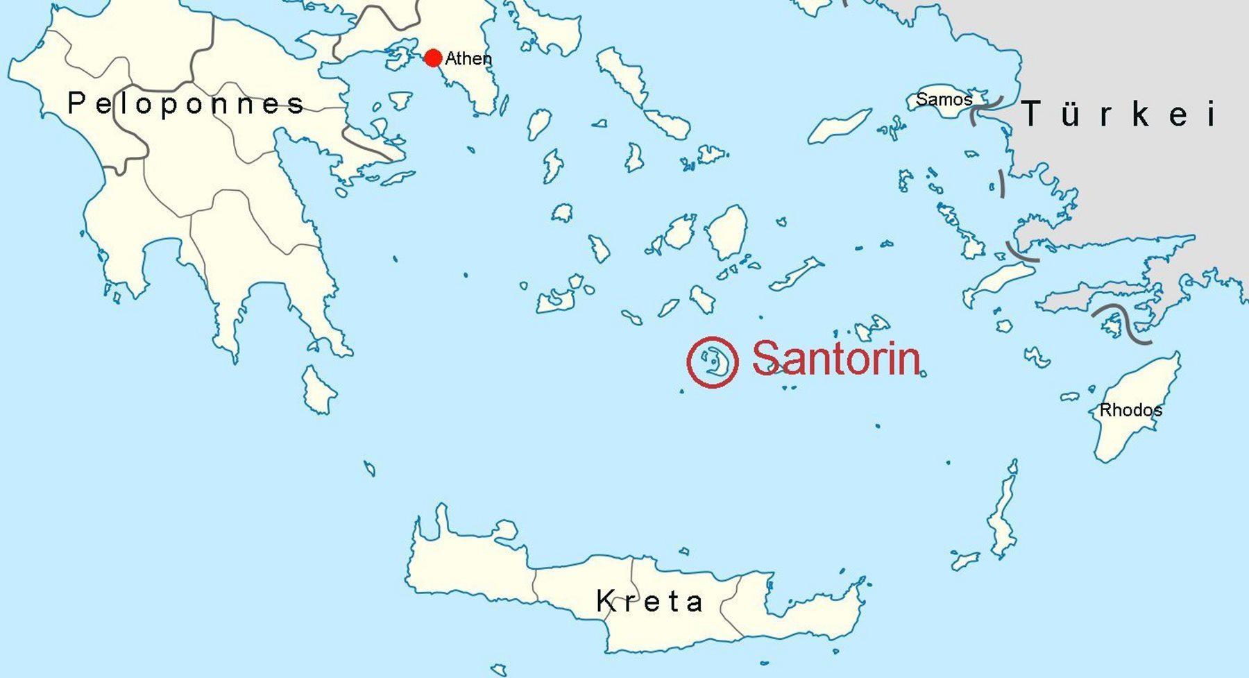 santorin karte griechenland Online Hafenhandbuch Griechenland: Insel Santorin und