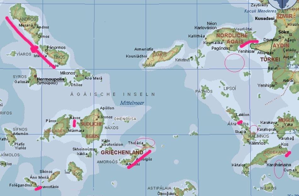 Türkische ägäis Karte.ägäis Karte Onlinebieb