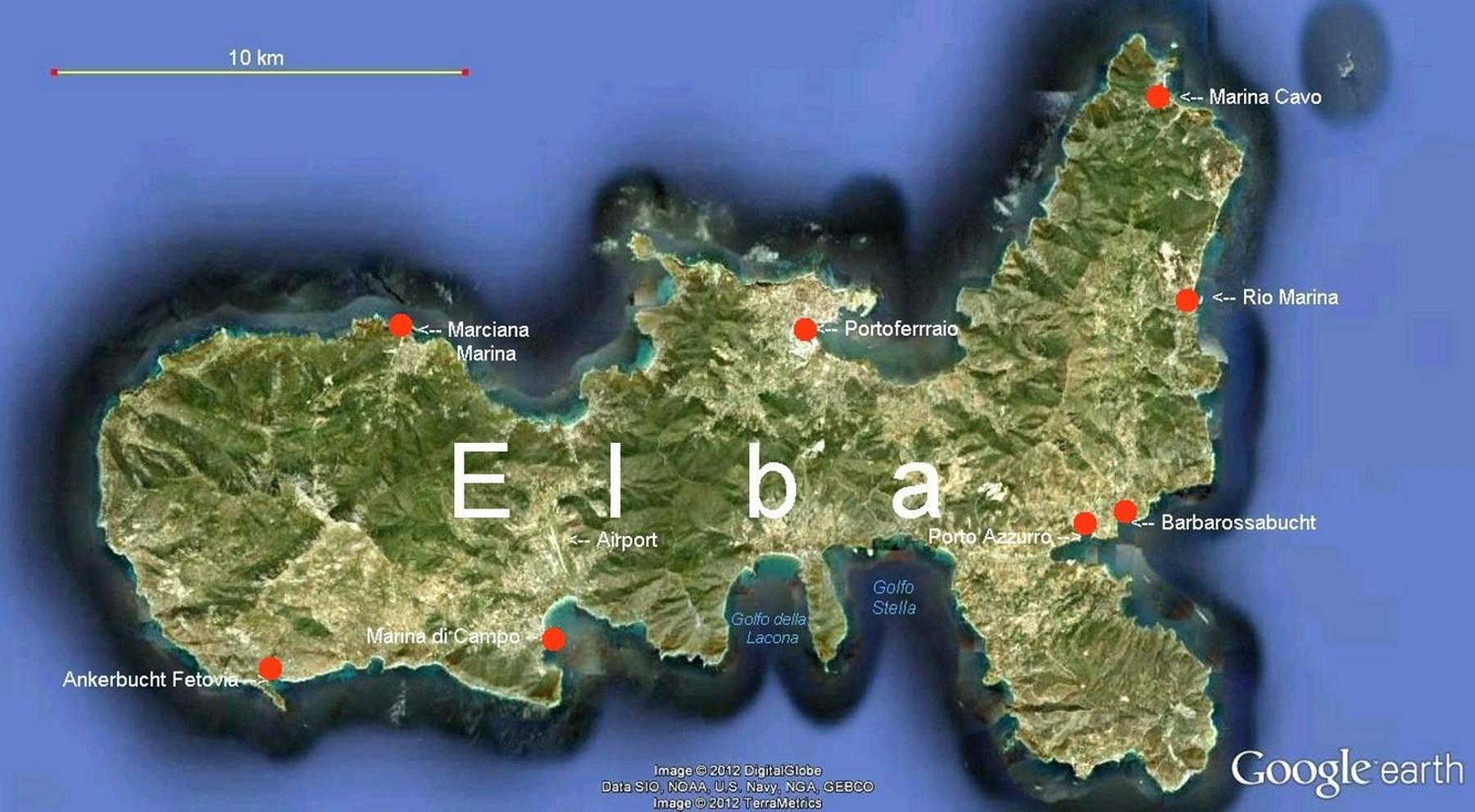 Insel Elba Karte.Online Hafenhandbuch Italien Insel Elba Und Die Marinas
