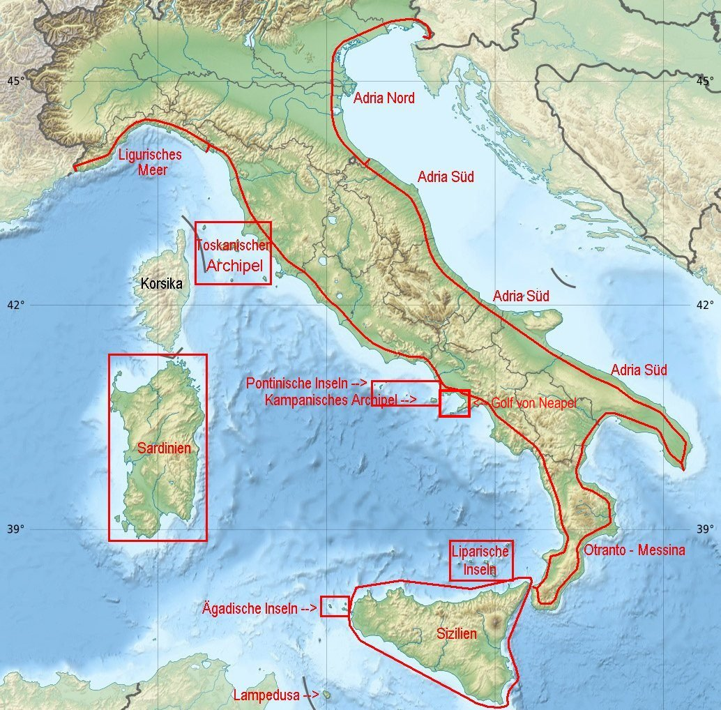Italien Obere Adria Karte.Revierinformation Fur Segler Download Revierinformationen