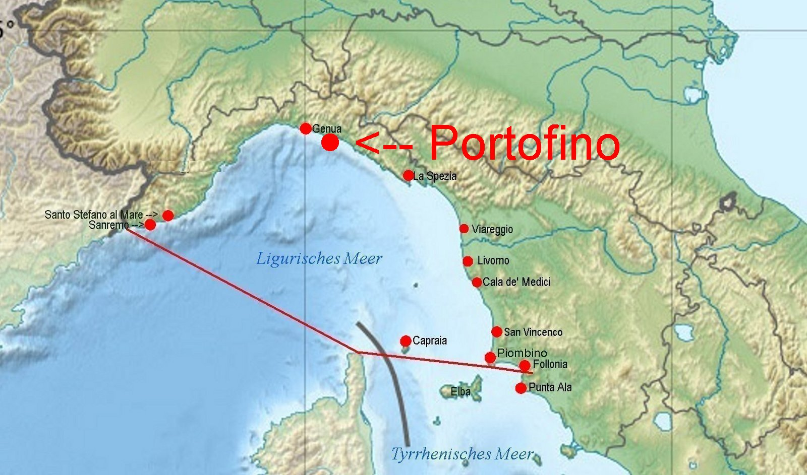 Online Hafenhandbuch Italien Hafen Portofino Ligurisches Meer