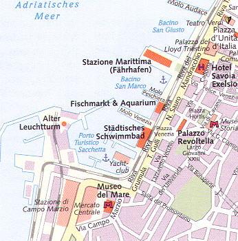 Revierinformation für Segler: Beschreibung des Hafens und der Marina in Triest / Adria Nord