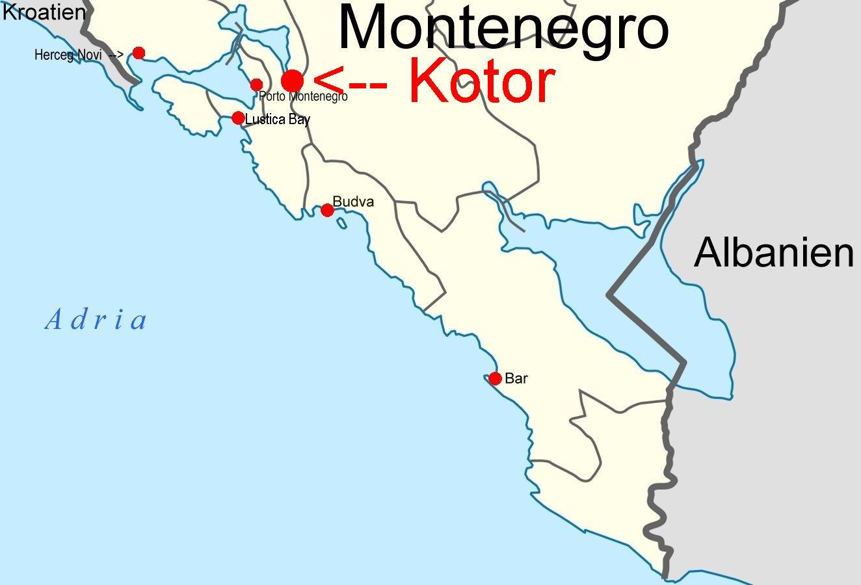 Kotor Montenegro Karte.Online Hafenhandbuch Kroatien Hafen Kotor In Montenegro