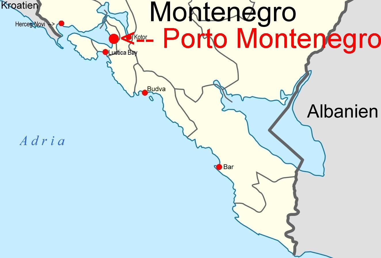 Porto Montenegro Karte.Online Hafenhandbuch Kroatien Porto Montenegro Marina Montenegro