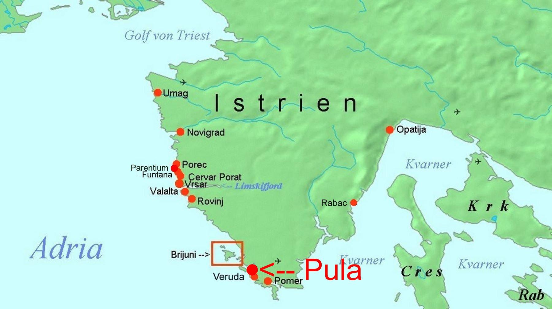 Karte Kroatien Pula.Online Hafenhandbuch Kroatien Aci Marina Pula Auf Istrien