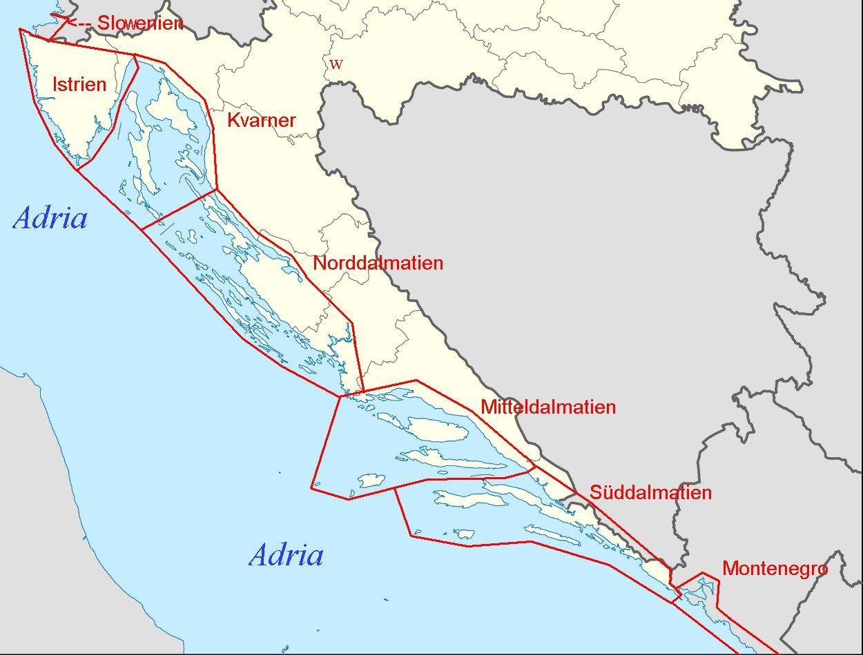 Karte Montenegro Kroatien.Online Hafenhandbuch Kroatien Hafen Marinas Und Ankerbuchten