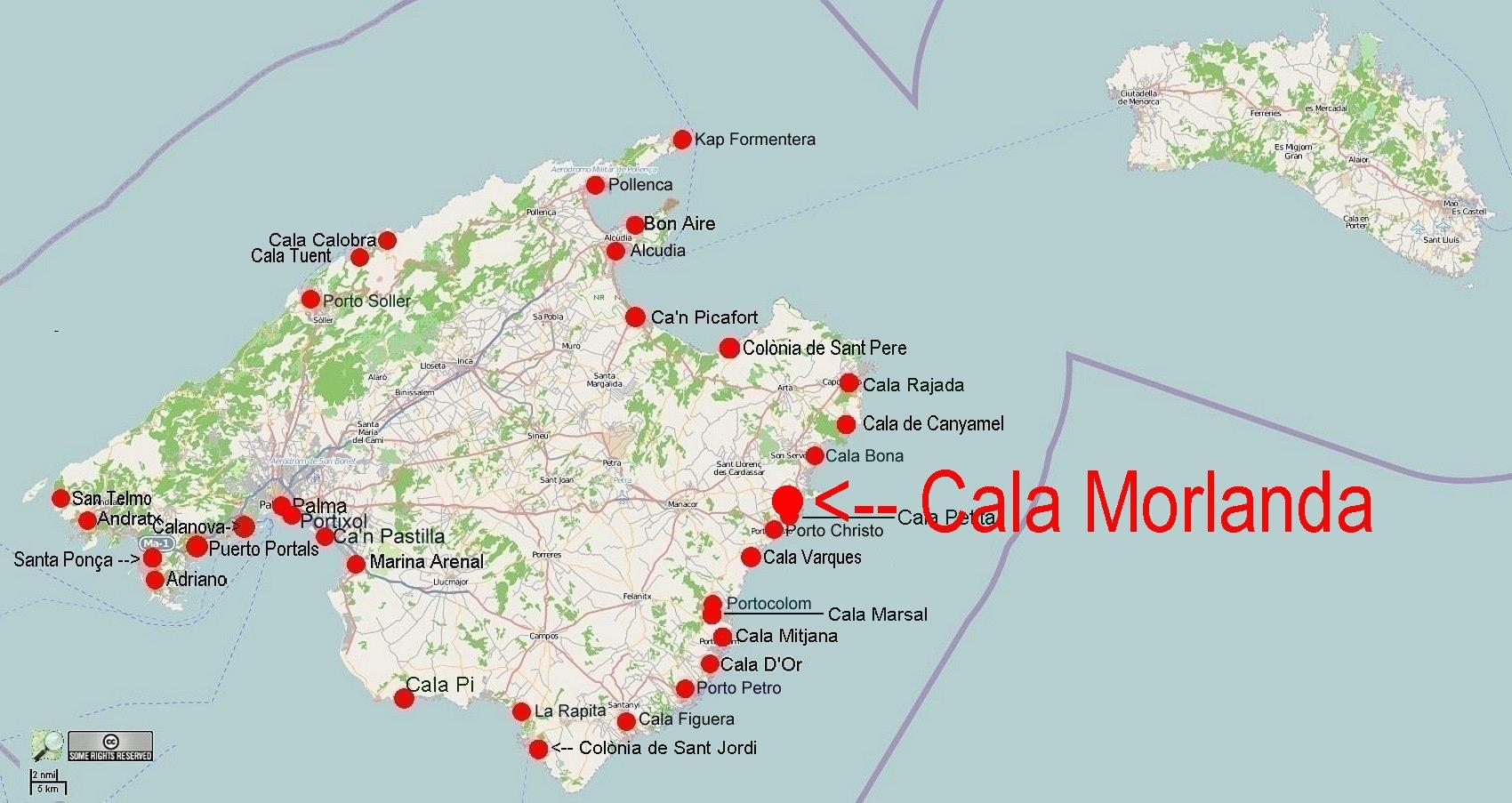 Unwetter Mallorca Karte.Online Hafenhandbuch Spanien Ankerbucht Cala Morlanda
