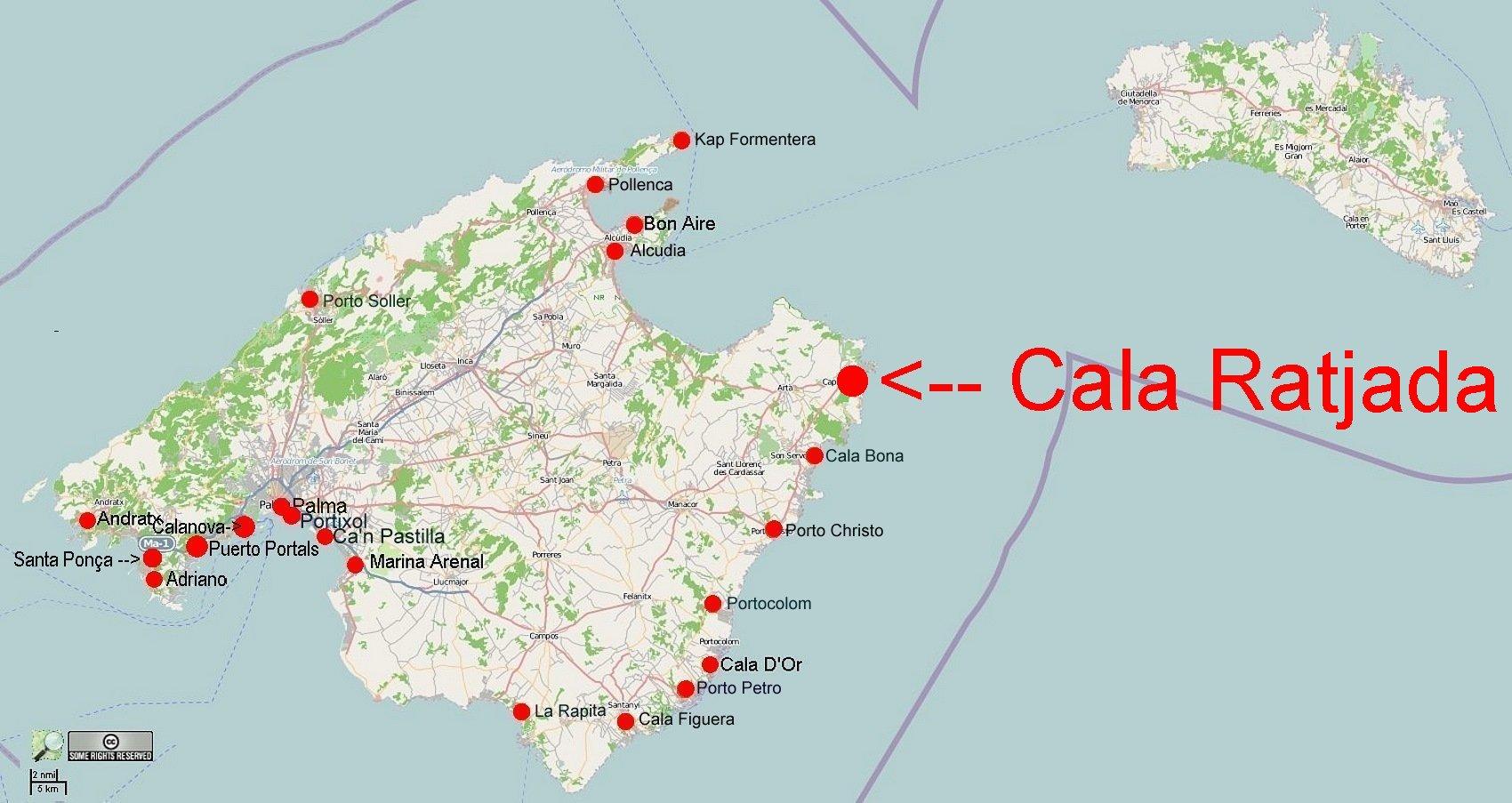 Online Hafenhandbuch Spanien Hafen Cala Ratjada Mallorca