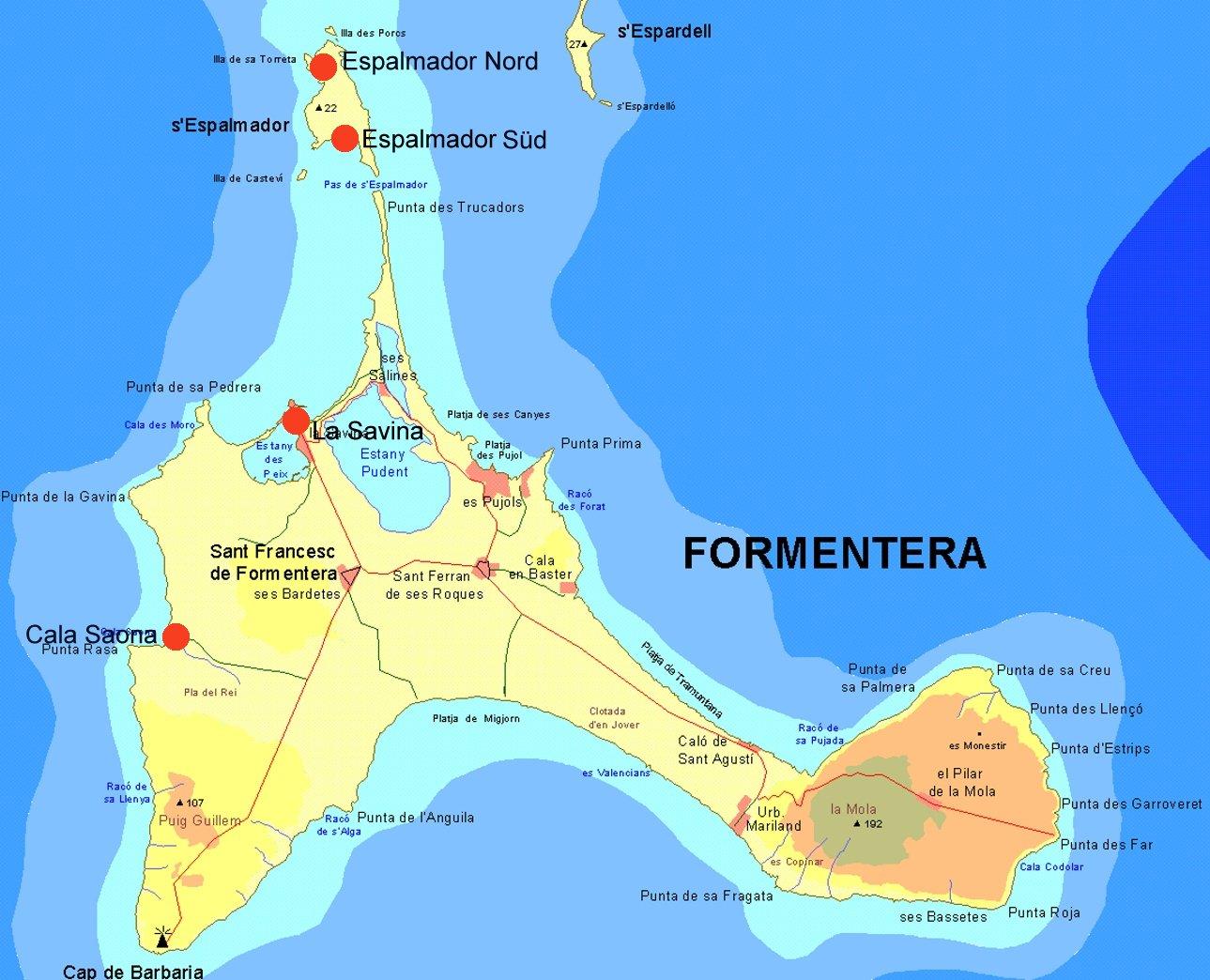 Formentera Karte