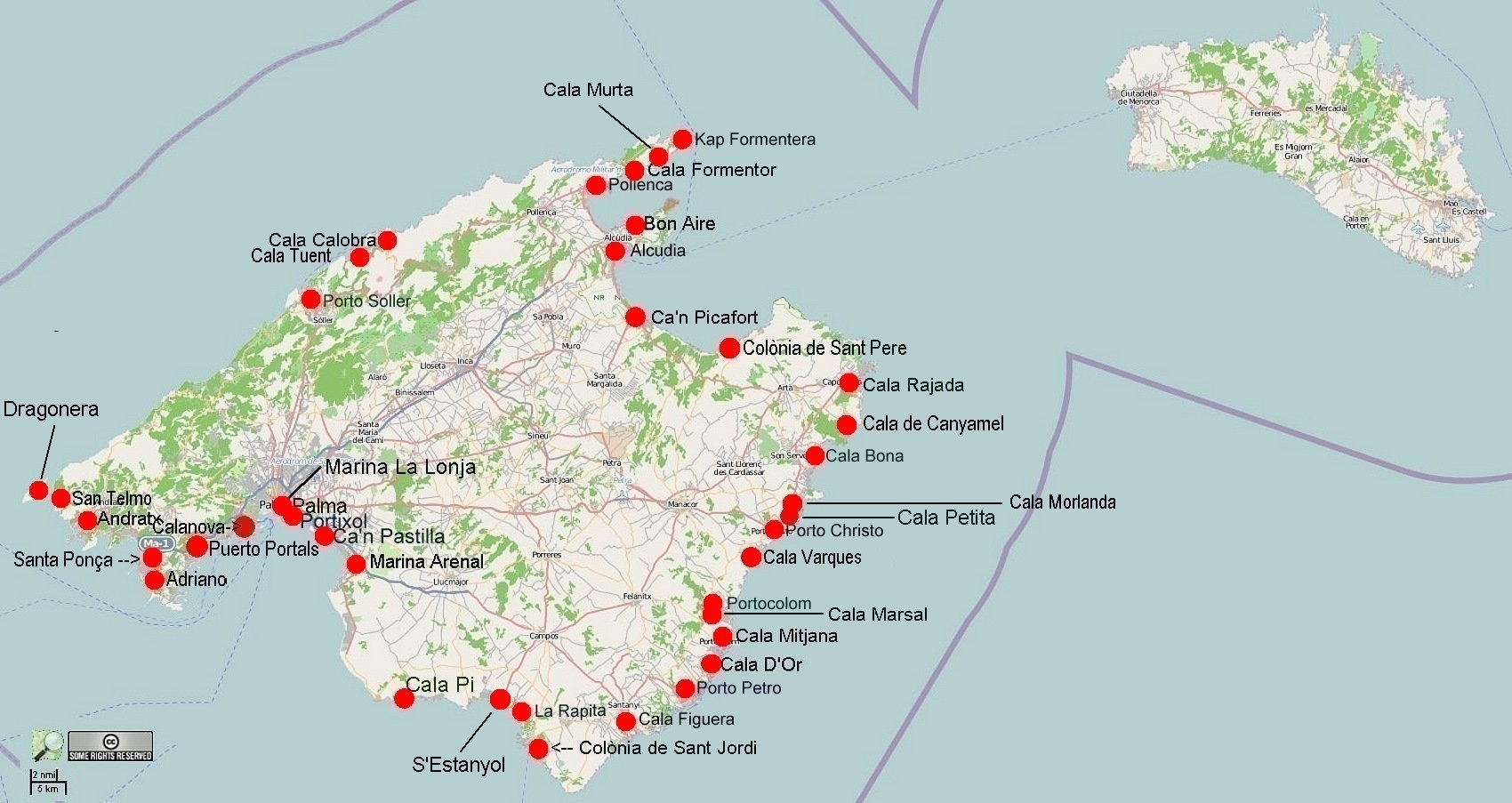Unwetter Mallorca Karte.Online Hafenhandbuch Spanien Mallorca Und Die Häfen